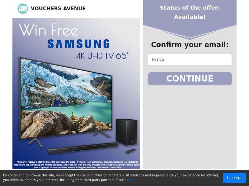 "Free 4K UHD 65"" TV"