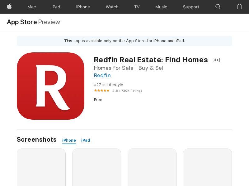 Redfin Real Estate - iOS - US