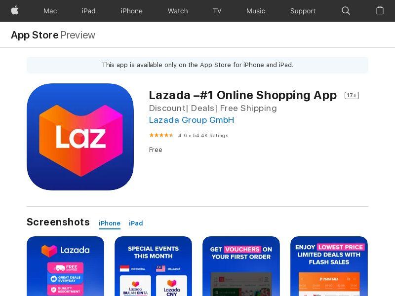 Lazada [iOS] MY