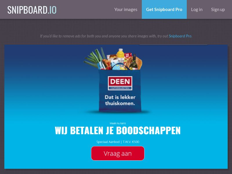 38288 - NL - LeadMarket - Deen Supermarket (Without Prelander) - SOI