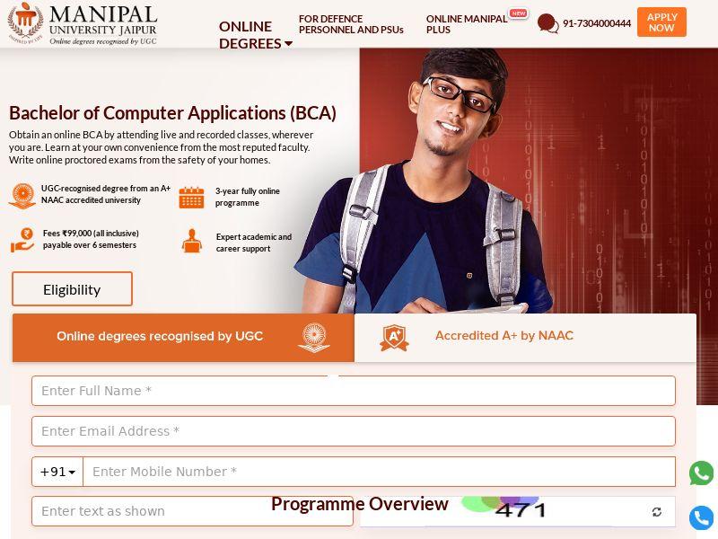 OnlineManipal.com BCA CPL - India
