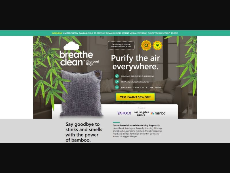 Breathe Clean Charcoal Bags - eComm / Other - SS - [19 GEOs]