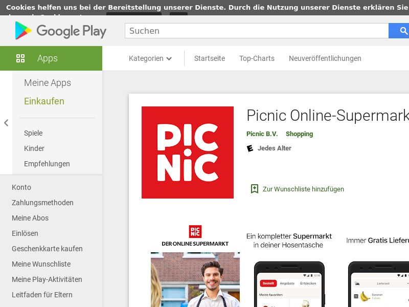 Picnic Online Android DE (City Targeted) (CPR)