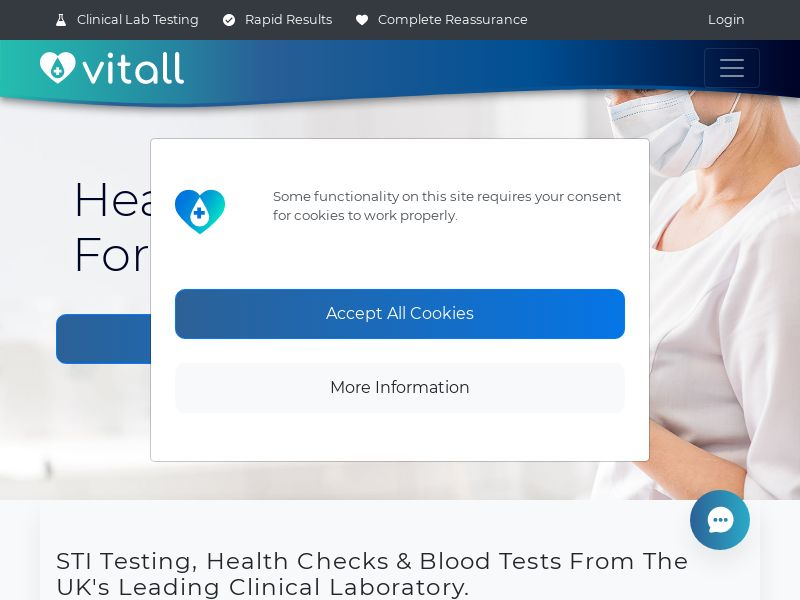 Vitall | Clinical Health Testing From Home