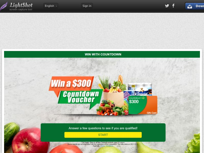 FunClub - Countdown $300 Voucher (NZ) (CPL) (Personal Approval)