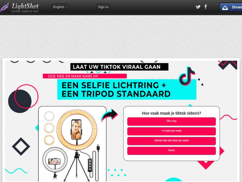 NectarContests - Tik Tok (NL) (CPL) (Personal Approval)