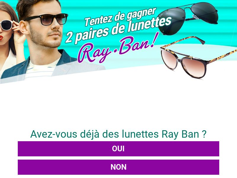 Sweepstakes Ray Ban - CPL - [FR]