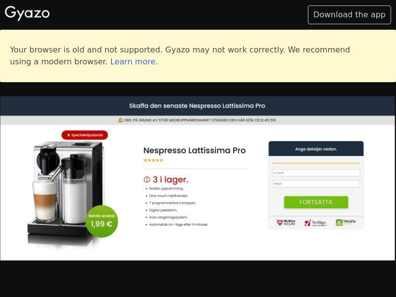 Win a Nespresso Pro (SE) (Trial)