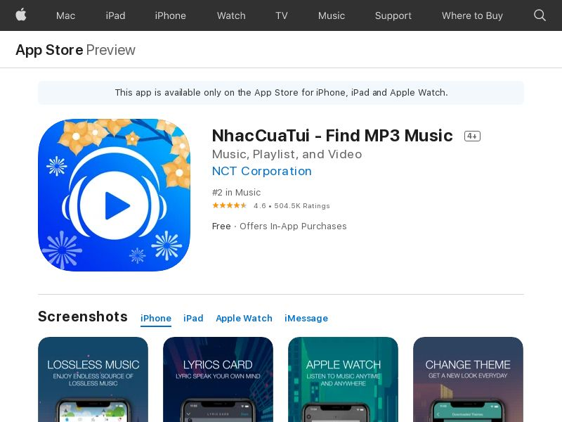 NhacCuaTui – Nghe nhac MP3_VN_Android_Non - Incent_CPA (Direct)