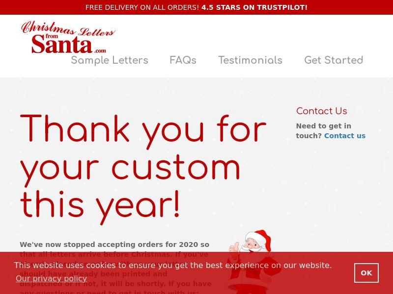 Christmas Letters From Santa [HOLIDAY] [ECOMMERCE] - CPA - Europe
