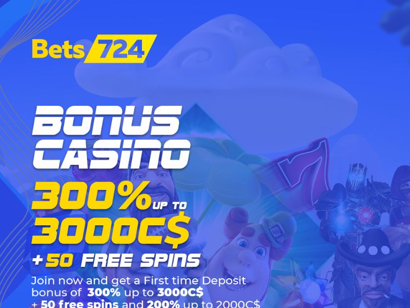 Bets724.com Casino - CPA - CA, DE & AU