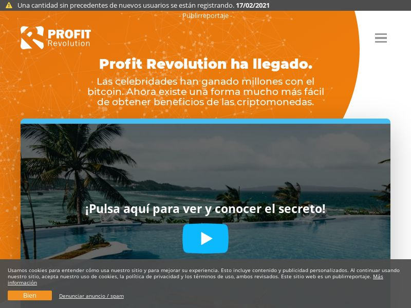 Profit Revolution LATAM (BO,BR,CL,CU,MX,PE), [CPA], Business, Investment platforms, Cryptocurrencies, Financial instruments, Deposit Payment, bitcoin, cryptocurrency, finance, money
