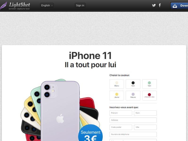Gelatine iPhone 11 3€ - Trial - FR