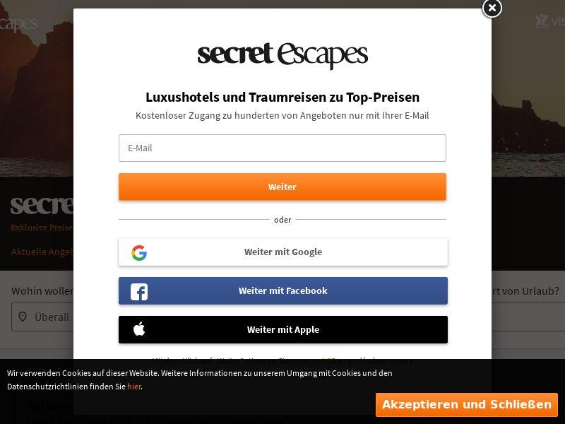 Secret Escapes - DE (DE), [CPS]