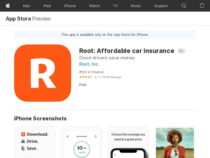 Root - US (only states mentioned in description)- IOS - CPA