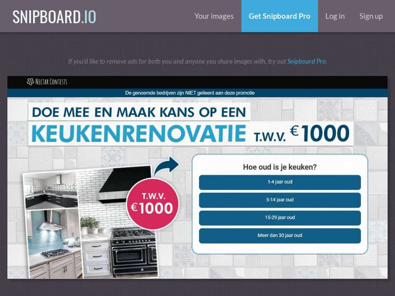 37348 - BE - NectarContests - Kitchen Renovation $1000 (dutch) (WithPrelander) - SOI