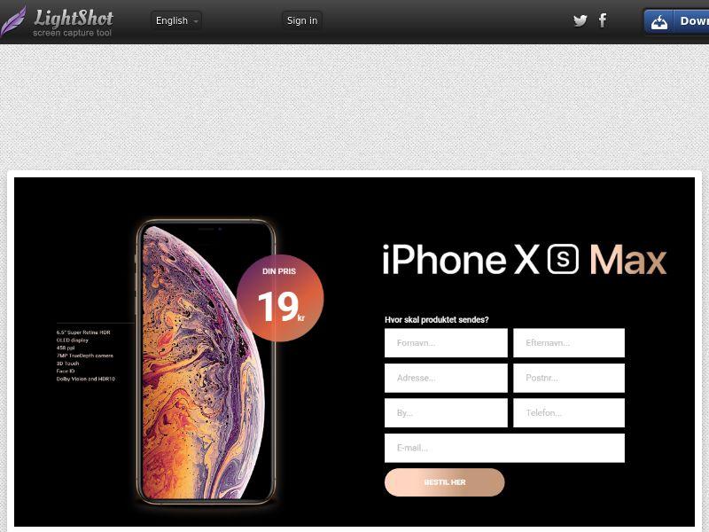 winlotsofthings iPhone Xs Max (Sweepstake) (CC Trial) - Denmark
