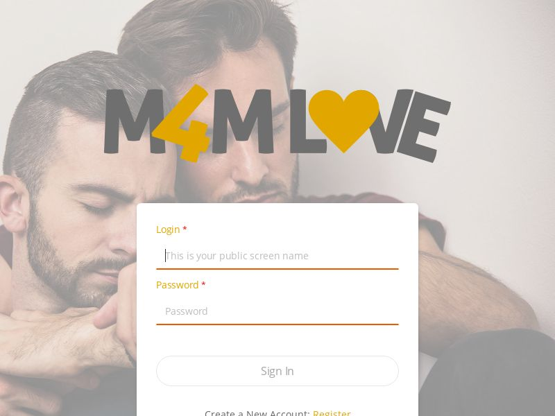 M4MLove.com - Direct Advertiser - Gay Dating - PPS - US, CA, UK, NZ, AU
