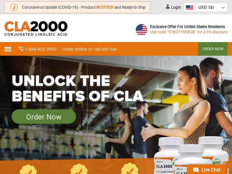 CLA2000 | Natural Lean Muscle Supplement