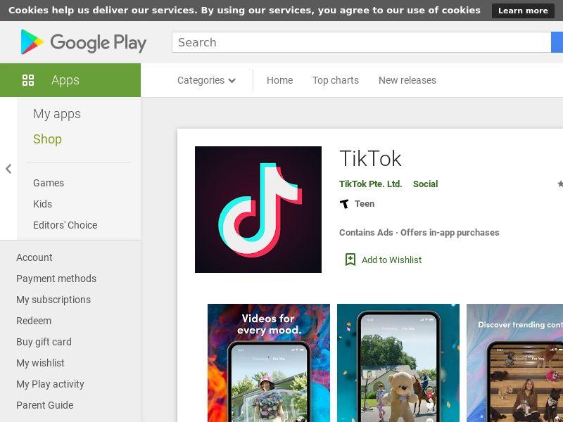 Tiktok Android AU GAID Bundle ID Appname