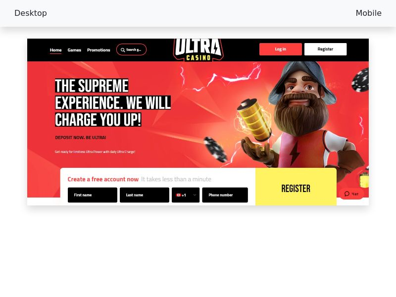 UltraCasino - Hybrid - NO, NZ, CA, NL - SEO only