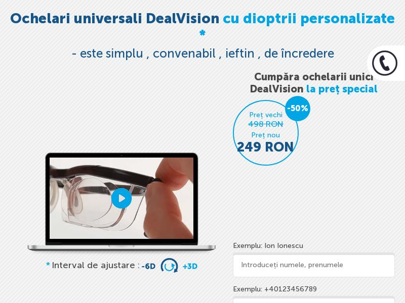 XtraVision (DealVision) glasses RO