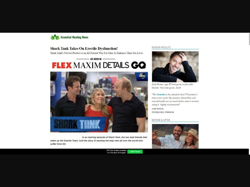Granite - Presell Page - Male Enhancement - SS - NO SEO - [US]