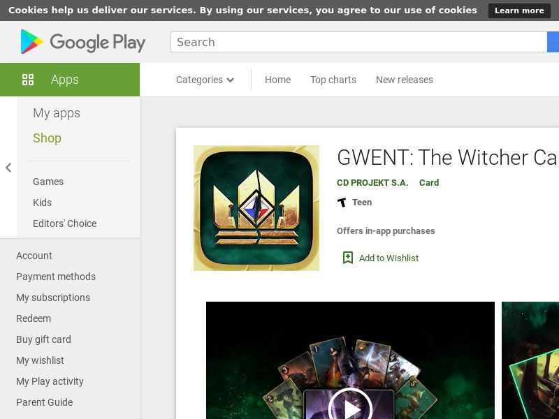 GWENT: The Witcher card game [CPI, Android] US