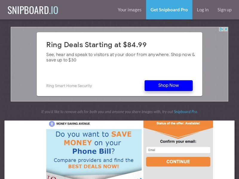 Money Saving Avenue - phone bill saving - SOI