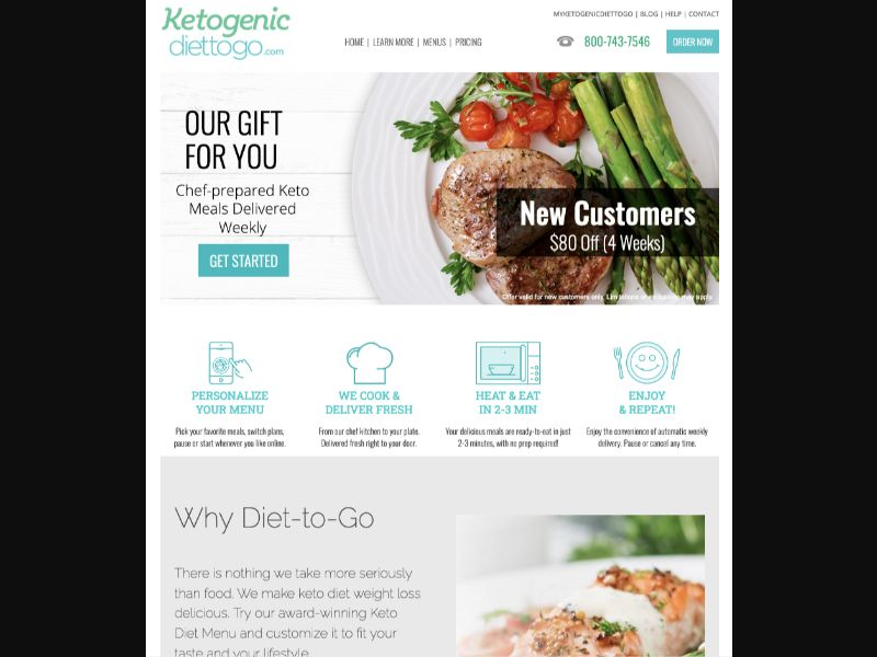 Ketogenic Diet-To-Go - CC Submit - US - Meal-Kit - Responsive