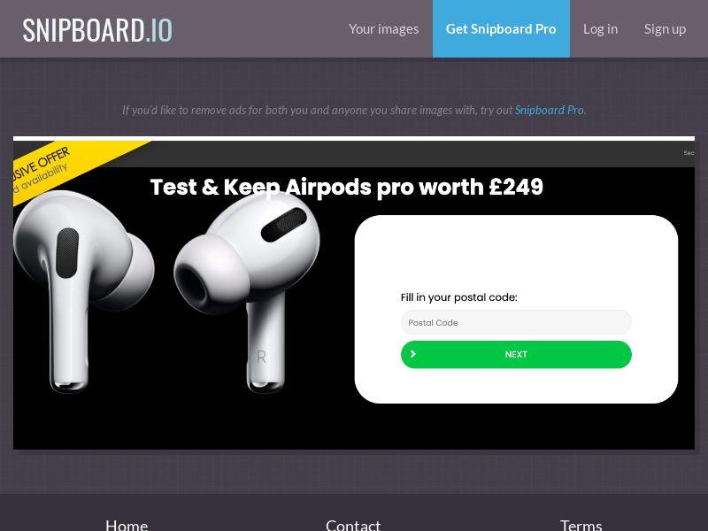 38438 - UK - FORYOUPROMO - Test & Keep AirPods Pro - SOI