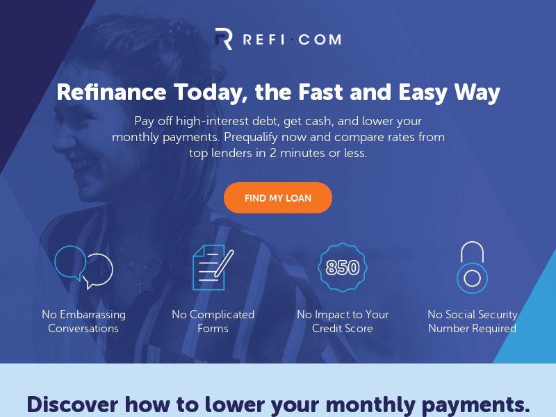 Refi.com Mortgage Refinance US   CPL