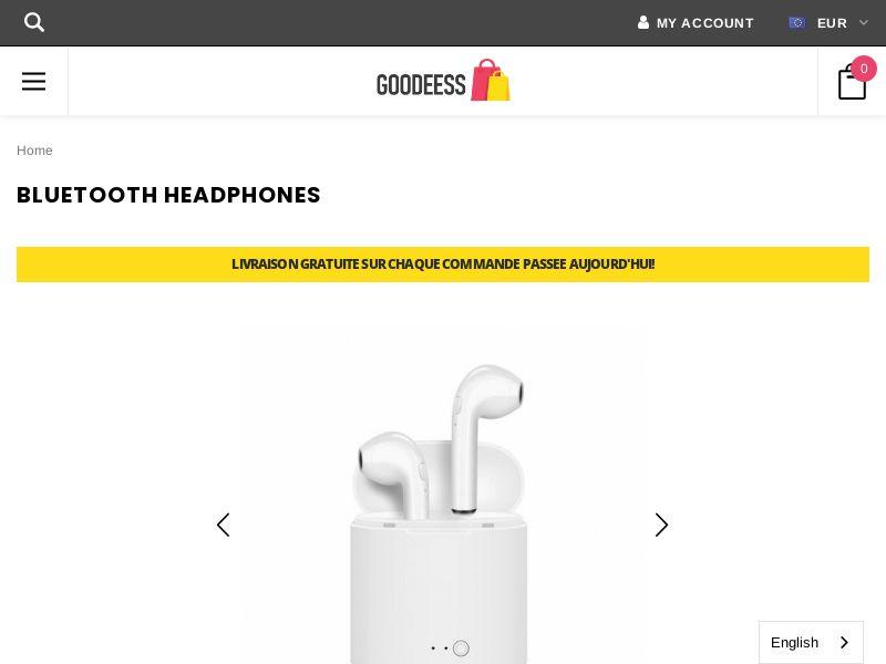 Bluetooth Earpods (FR) (SURVEY ALLOWED) (SMS ALLOWED)