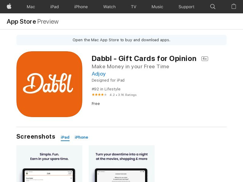 US - Dabbl (iOS Free US 213MB w/capping NRB) CPA - - (SCAPI)