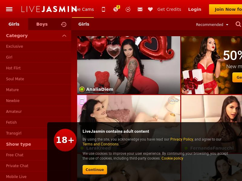 Live Jasmin - PPS - Responsive
