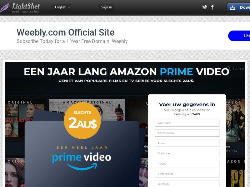 winlotsofthings Prime Video (Streaming) (CC Trial) - Belgium (BEnl) [BE]