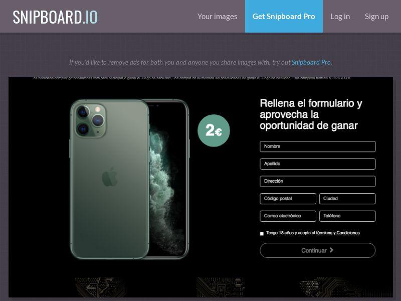 BigEntry - iPhone 11 Pro v4 (Static LP) ES - CC Submit