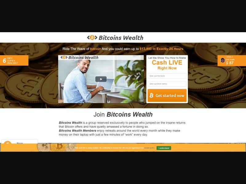 Bitcoins Wealth - $200 min CTC - VSL - Crypto - SS - [11 GEOs]