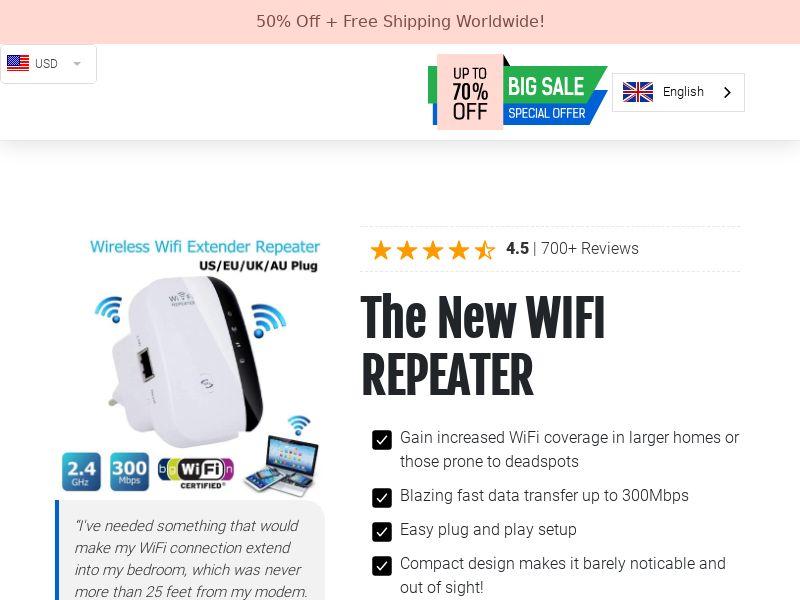 D WiFi - WiFi Repeater - CPA - [INTERNATIONAL]