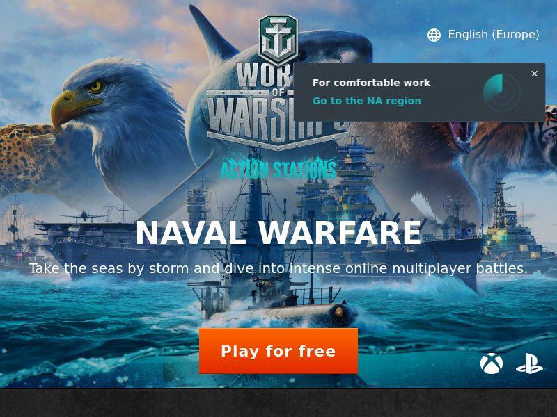 World Of Warships - [GE,TH,UY,BO,MX,PE,NI,GP,GT,VE,CO,PR,HT,CR,HN,CU,EC,AR,CL,DO,SV] - Display