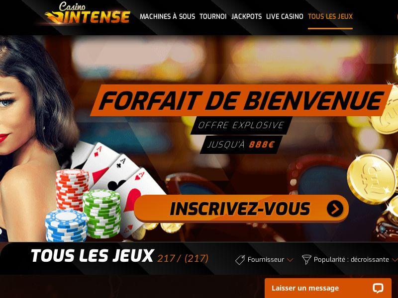 Casino Intense - FR (FR), [CPA], Gambling, Casino, Deposit Payment, million, lotto