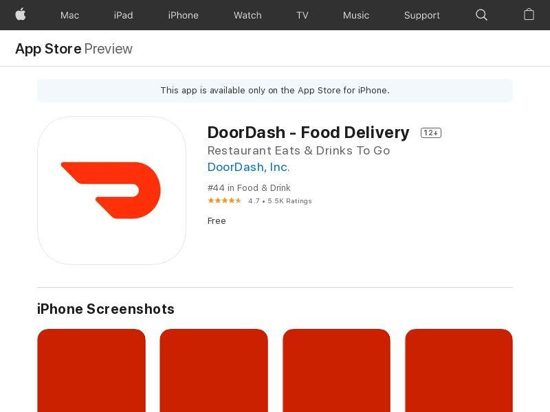 Doordash - IOS- CA (CPE=First order)