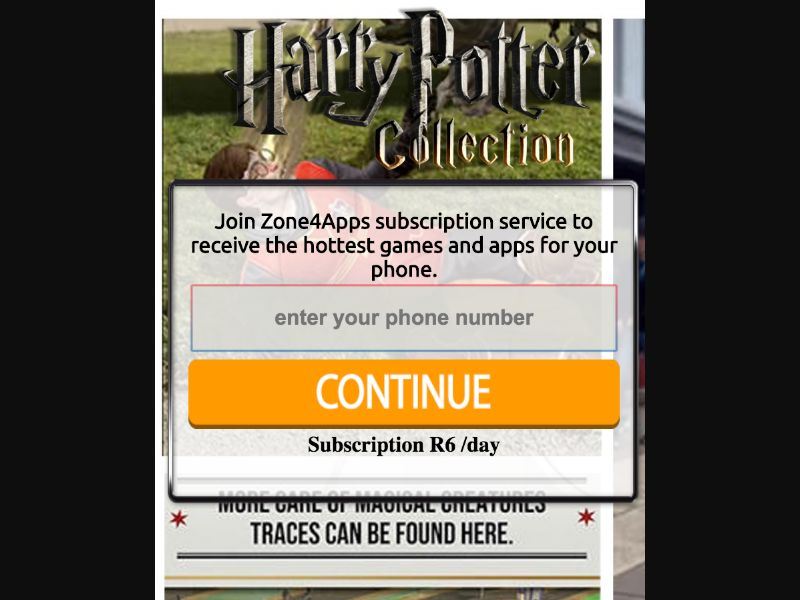 Harry Potter - 1 click - ZA - CellC - Online Games - Mobile