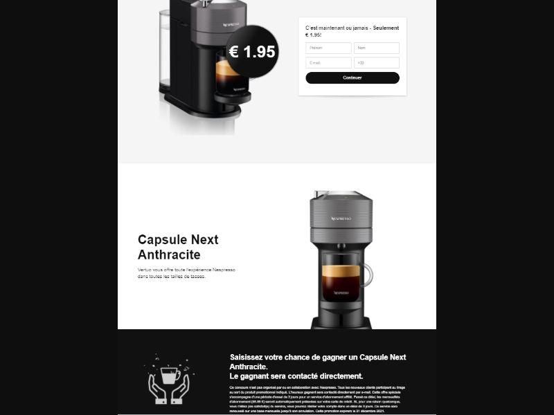FR - Win Nespresso Coffee Machine [FR] - CC Submit