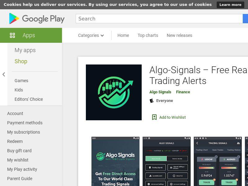 Algo Signals application