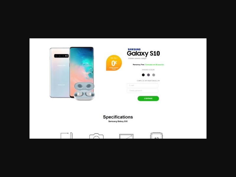 Win a Samsung S10 (UK) Sweepstakes