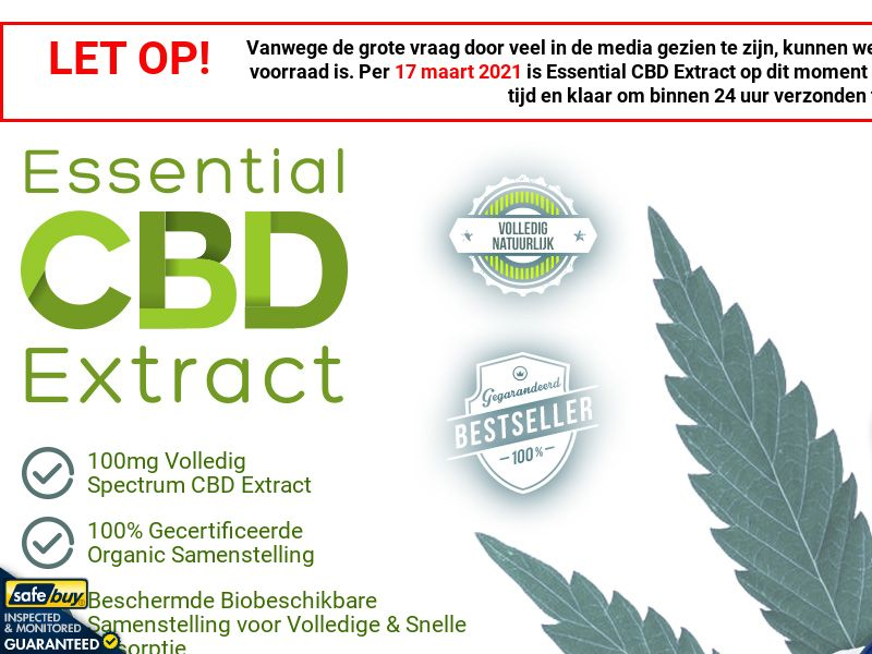 Essential CBD Extract Dutch [NL, BE] (Social,Banner,PPC,Native,Push,SEO,Search)(No Email) - CPA