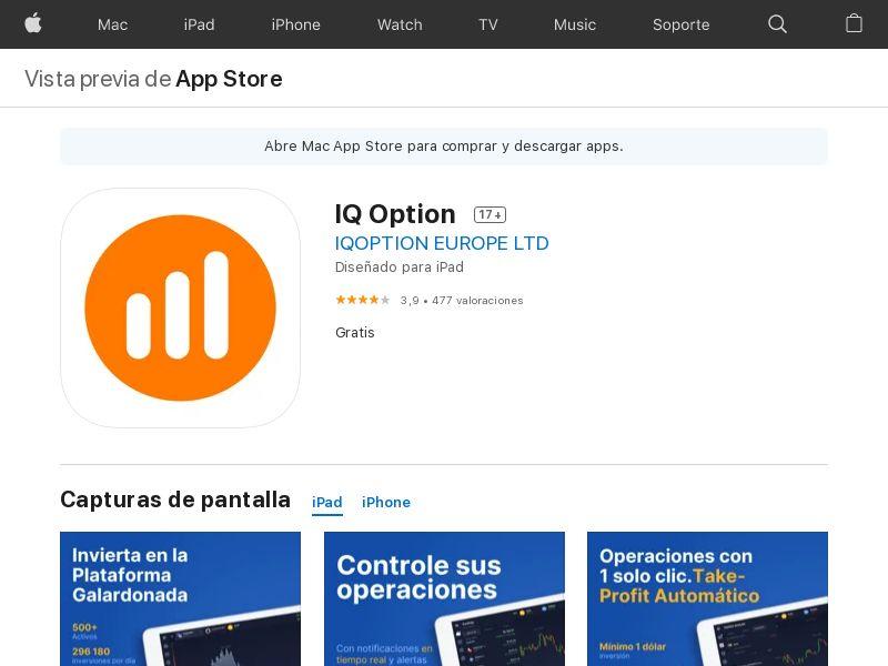 IQ Option - CPA - Brazil [iOS APP]