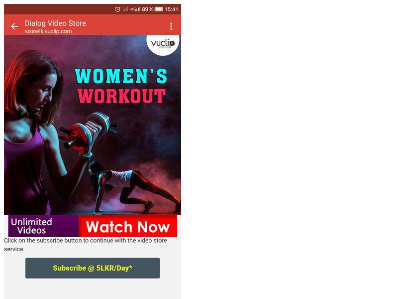 Women Workout Dialog