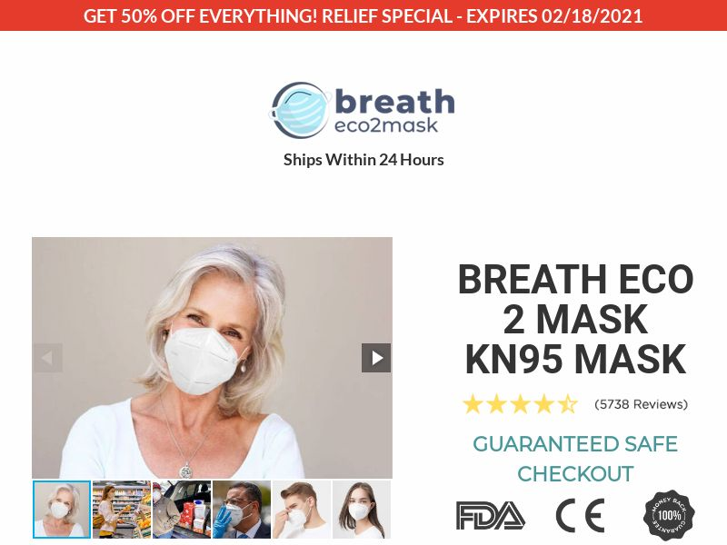 Breath Eco2 Face Mask (CPS) - INT